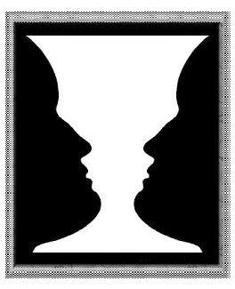 psicologia da gestalt - psicologia da forma - vaso de rubin
