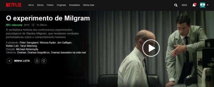 o experimento de milgram netflix psicologia