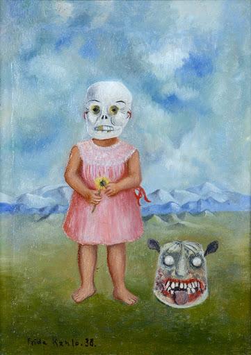 Menina com Máscara da Morte (Niña con Máscara de Calavera): Frida Kahlo, 1938