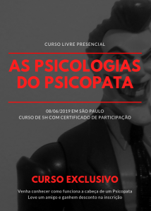 Curso de psicologia criminal forense psicopatia são paulo