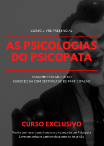 curso psicopatia serial killer psicologia são paulo