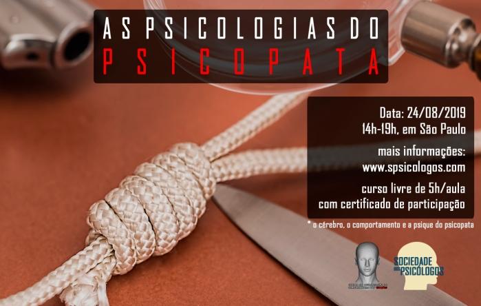 curso de psicologia sobre psicopatia serial killer em são paulo