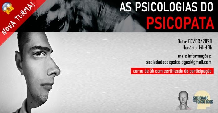 curso psicopatia personalidade antissocial psicologia são paulo serial killer criminologia forense