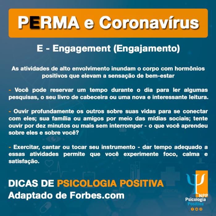 PERMA Psicologia positiva e coronavírus pandemia covid19