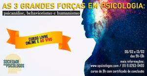 curso psicanálise behaviorismo humanismo